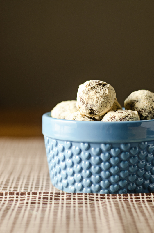 PB Dusted Truffles